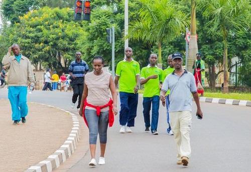 kigali walk to work healty