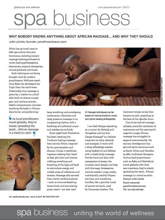 julie lombe lombé african massage africain